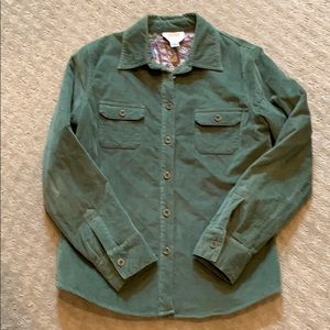 Talbots Quilted Cord Shirt Jacket